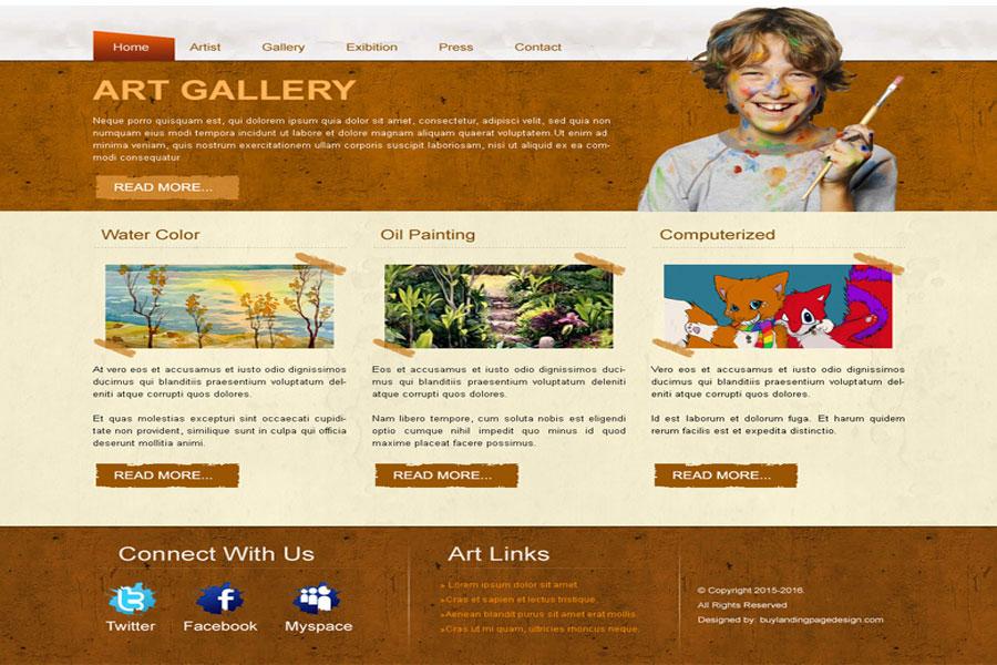 giao diện trang web học vẽ tranh