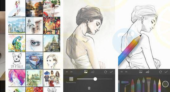 Phần mềm vẽ tranh miễn phí Sketch book
