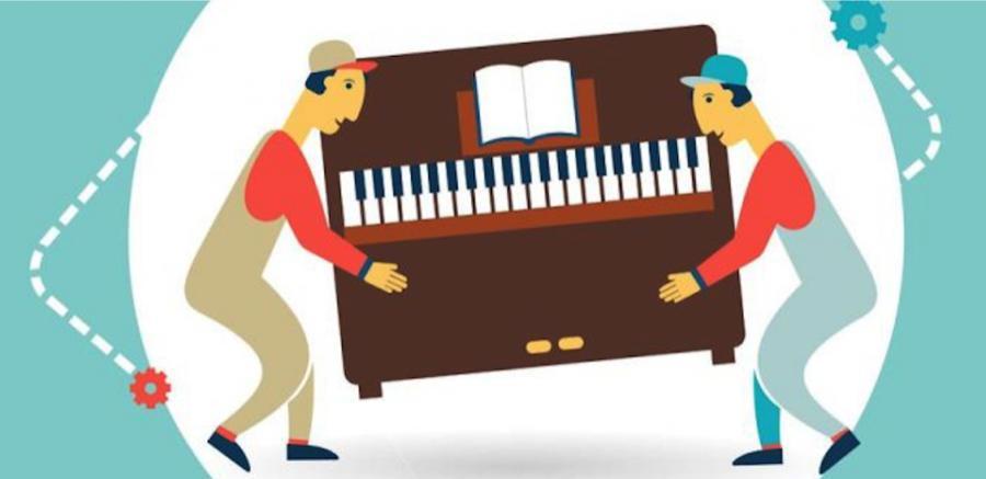 Quy trình vận tải - vận chuyển đàn piano